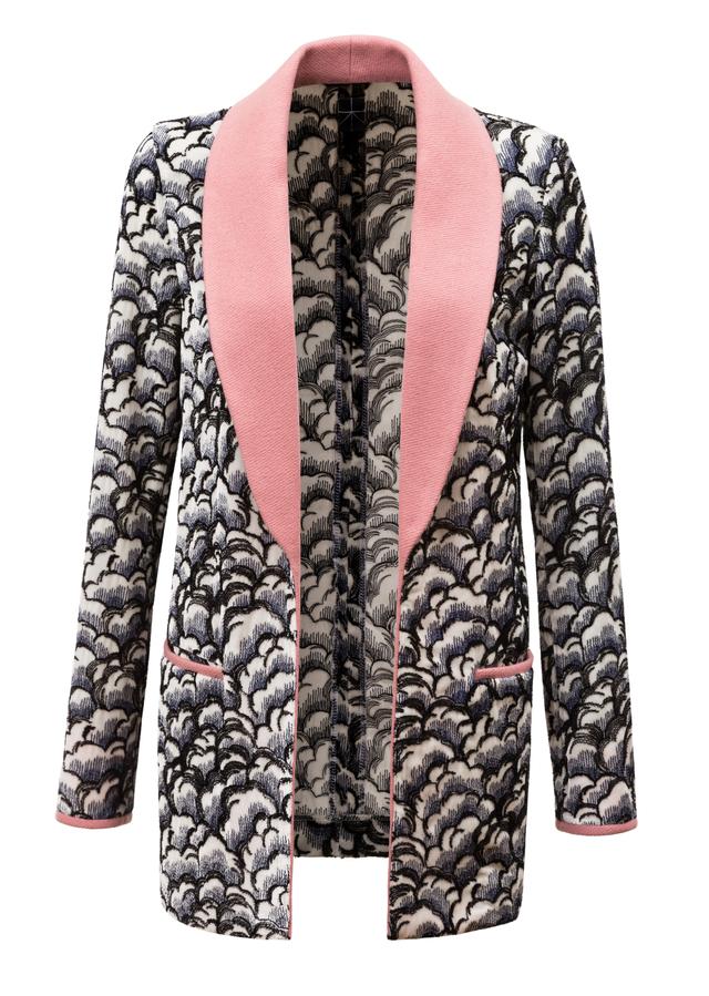 vyšívaný sametový kabátek