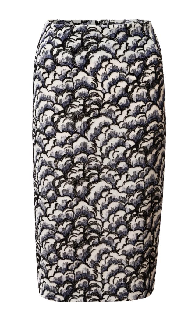 sukně z vyšívaného sametu