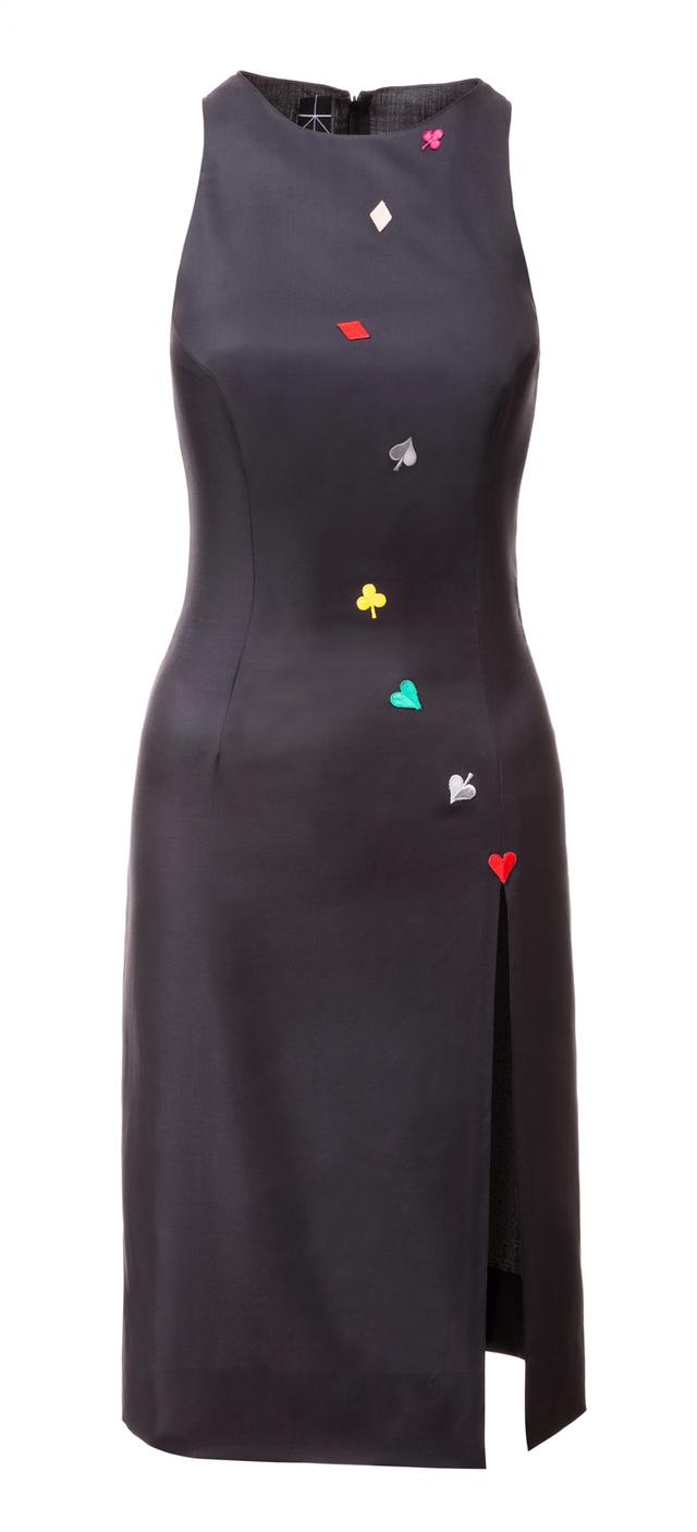 Pouzdrové šaty s rozparkem