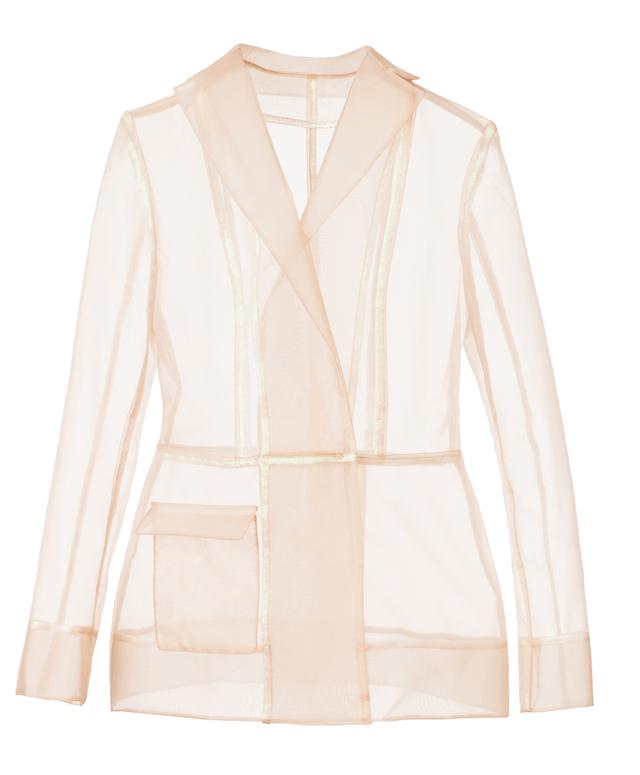 transparentní kabát