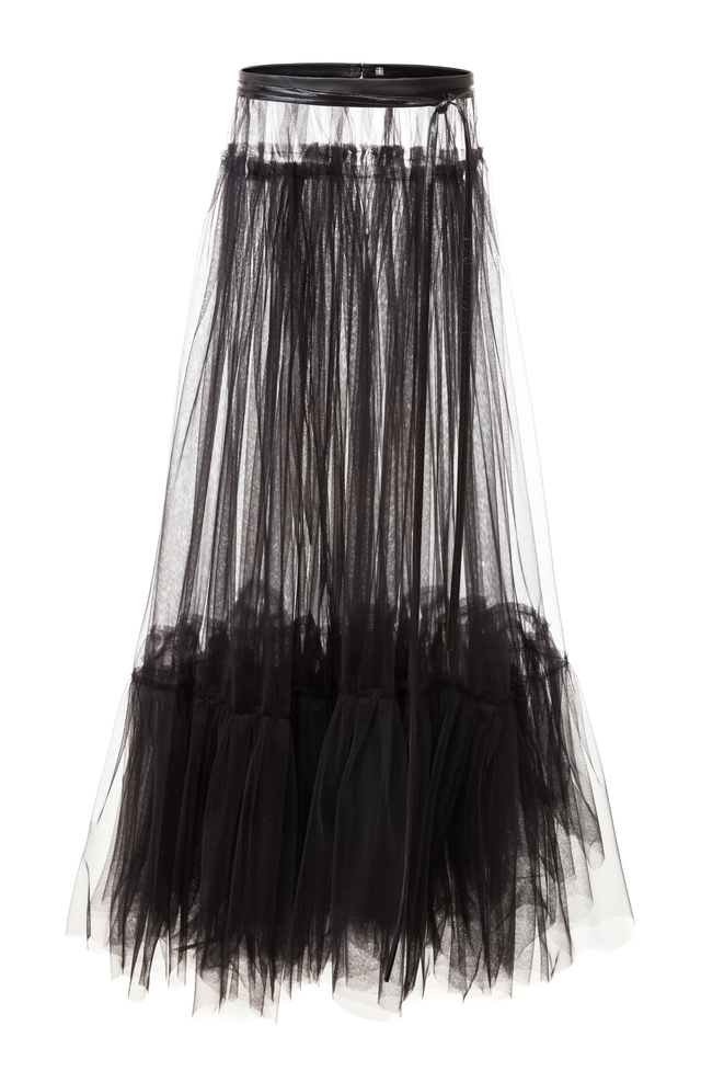 tylová maxi sukně