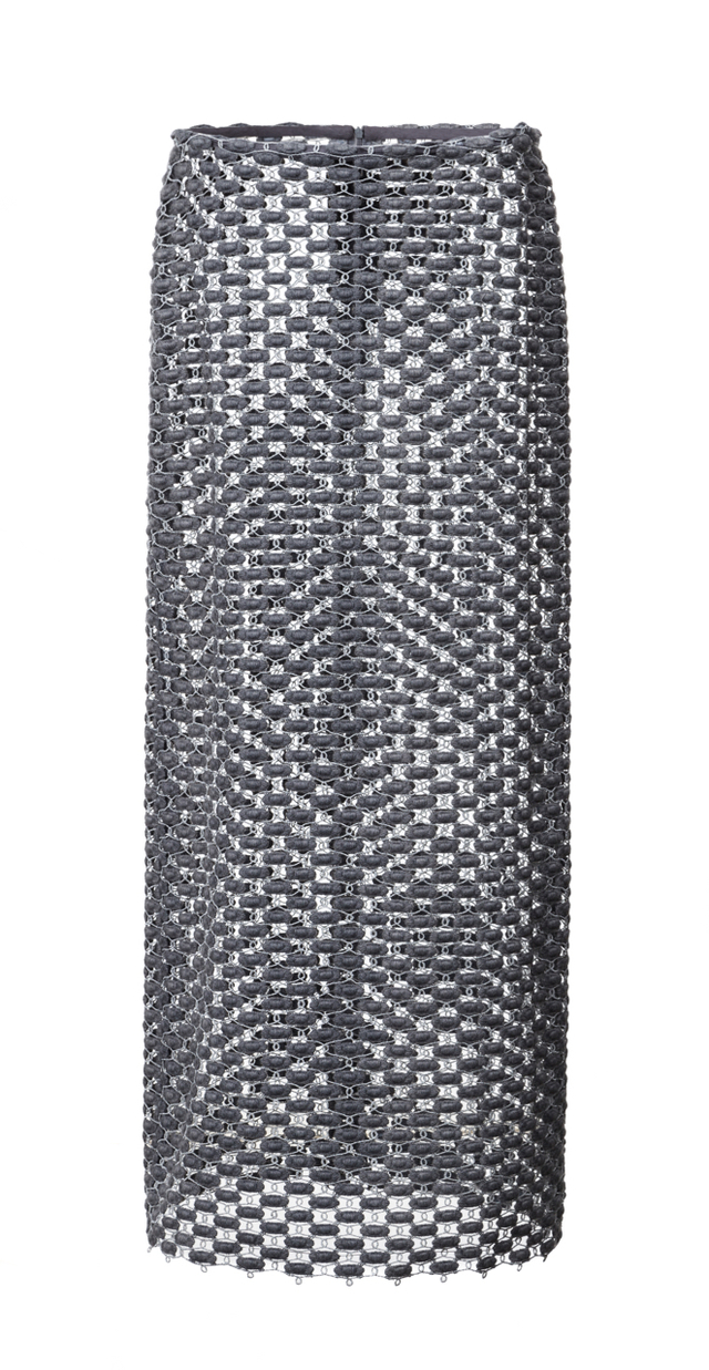 sukně z výšivkové krajky