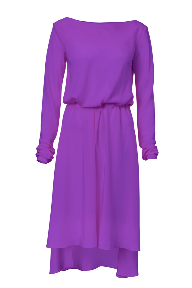 hedvábné šaty