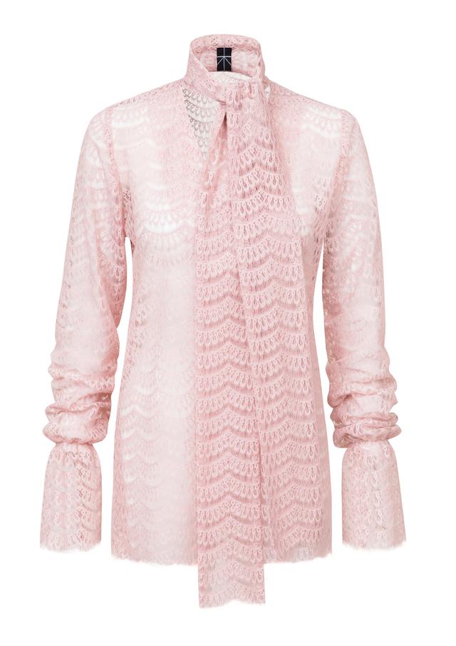 lace tie blouse