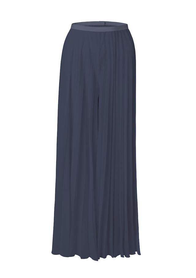 plisé trouser skirt