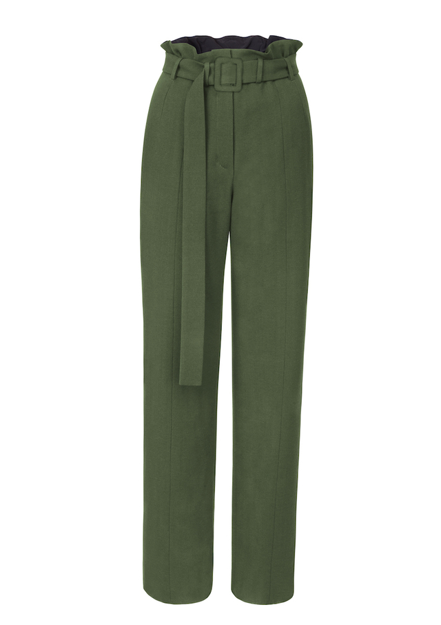 rovné kalhoty s páskem