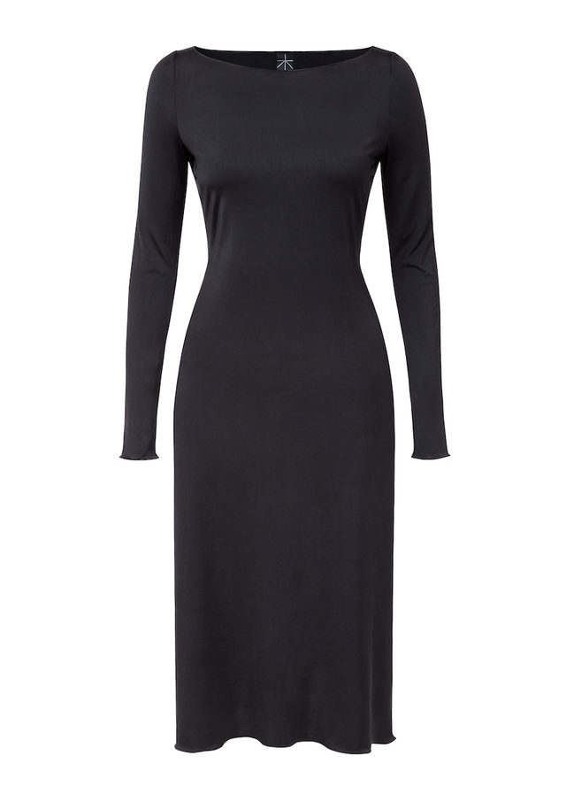 elastické šaty s dlouhým rukávem