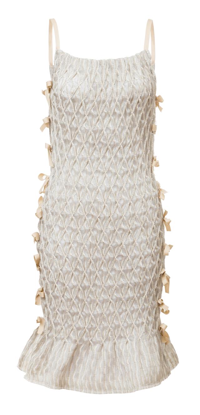 šaty s mašlemi na bocích
