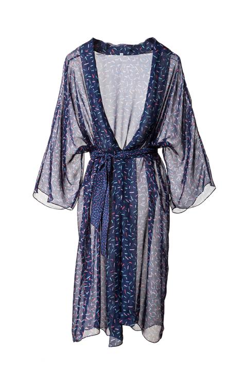 hedvábné kimono