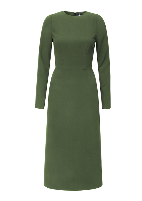 mid length dress with long sleeves